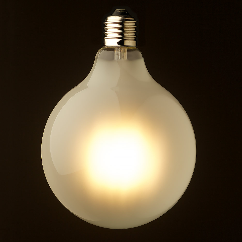 8 watt dimmable led e27 125 round pearl bulb. Black Bedroom Furniture Sets. Home Design Ideas